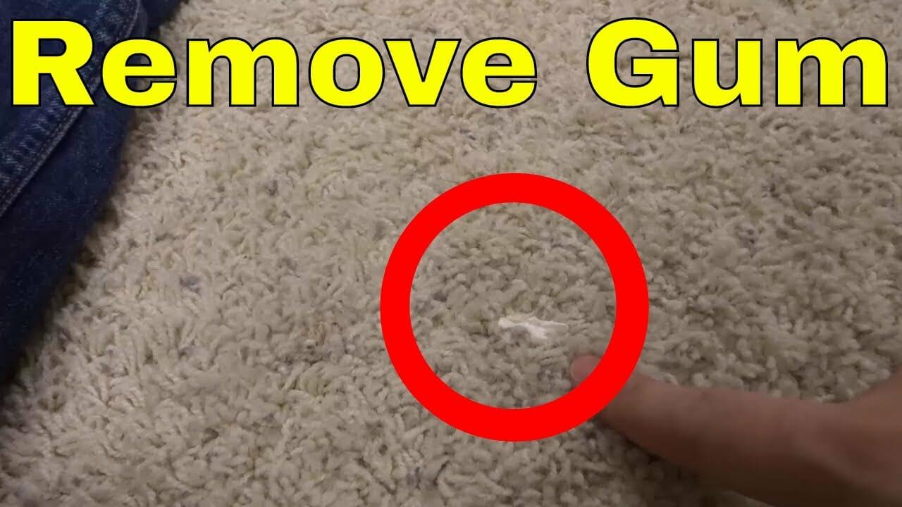 הסרת מסטיק משטיחים עם WD40