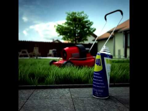 טיפול במכסחת הדשא עם WD40
